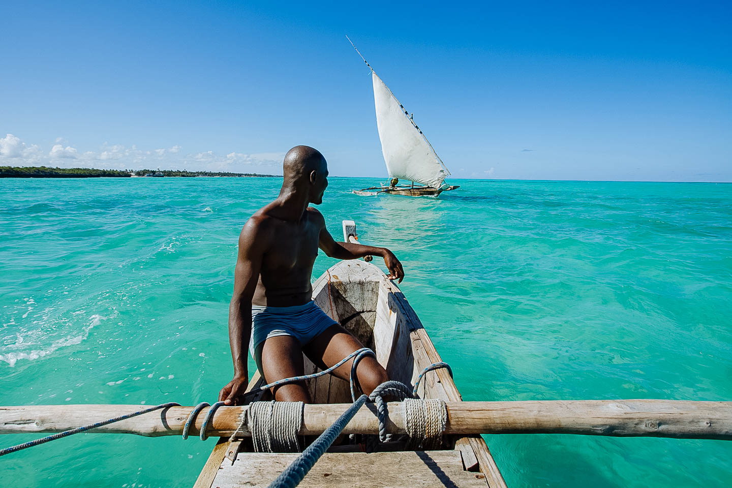 Zanzibar Dhow Sailing Sea Sunny Boat Cruise Indian Ocean Islands