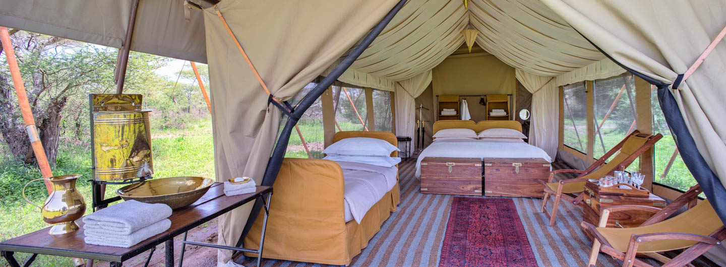 Great Wildebeest Migration serengeti safari camps guest room serengeti under canvas tanzania
