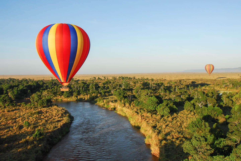tanzania travel tips serengeti hot air ballooning safari river