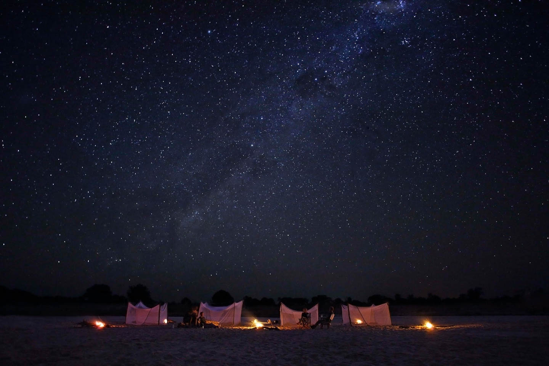 christmas safari fly camping night sky milkyway south luangwa zambia