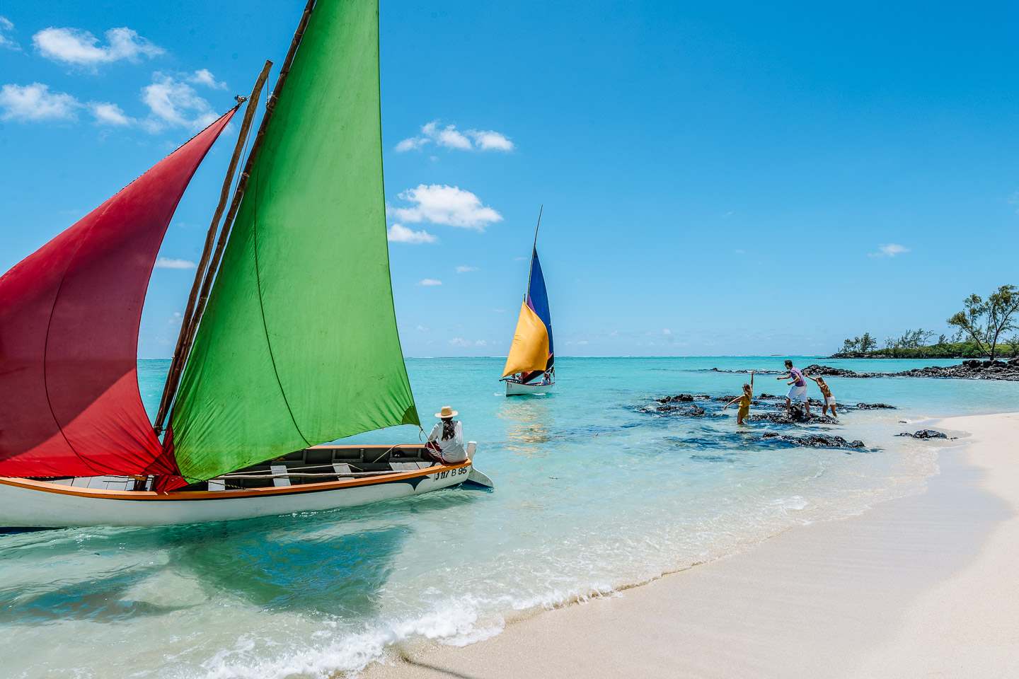 Indian Ocean Islands sail boats beach mauritius indian ocean islands