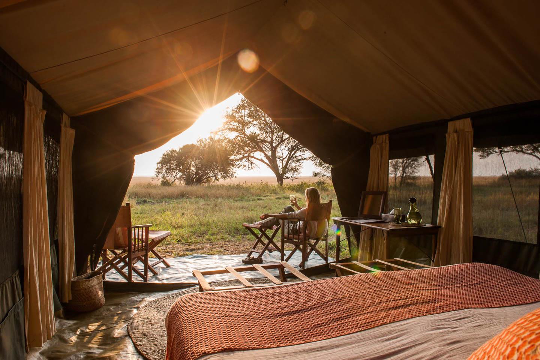 serengeti safari camps Great Wildebeest Migration tent view nomad masek camp serengeti tanzania