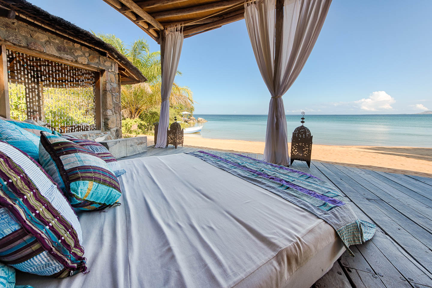 romantic lodges in Africa kaya mawa deck lounge romantic malawi